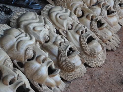 Masks in Nkata Bay Market