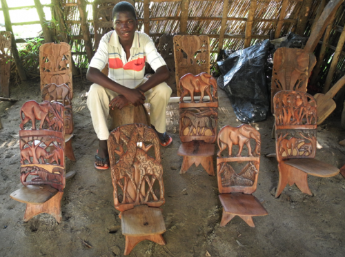 Vendor with his chief chairs