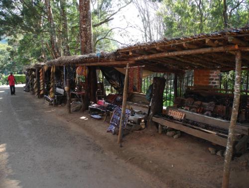 Panoramic shot of Zomba market stalls