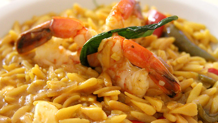 Orzo shrimp_classic and traditional greek dishes