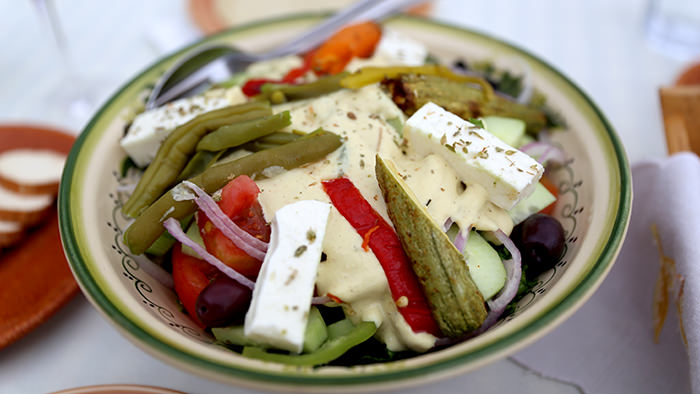 Salad_Kos_classic and traditional greek dishes