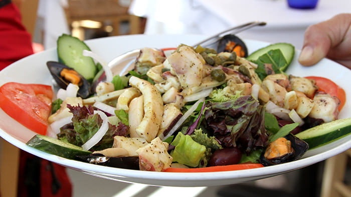 Seafood salad_santorini_classic and traditional greek dishes