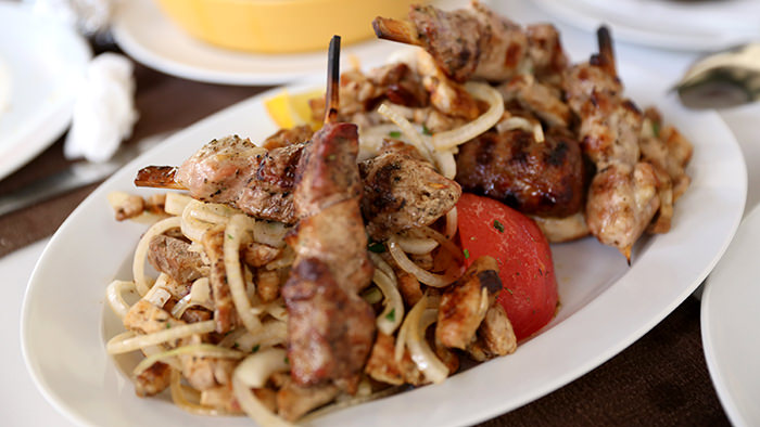 Souvlaki_classic and traditional greek dishes