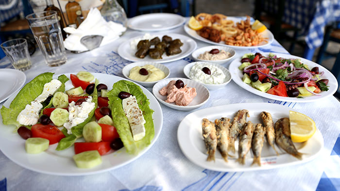Spread Telendos_classic and traditional greek dishes