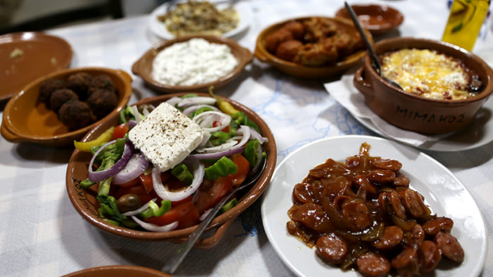 Spread_Rhodes_classic and traditional greek dishes