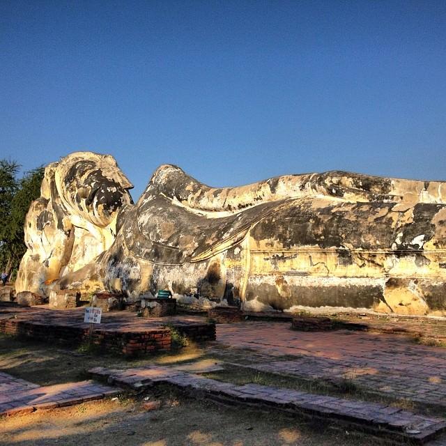 Ayutthaya_Thailand_Reclining_Buddha