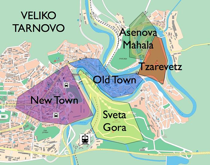 Map of Veliko Tarnovo